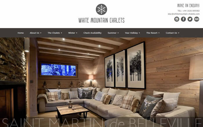 whitemountain-chalets.com | White Mountain Chalets | Luxury Catered Ski Chalets | Marketing Strategy Planning, Brand Development, Website Design, Brochures, Business Cards and Email Marketing